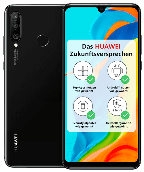 HUAWEI P30 lite New Edition Front-Backansicht