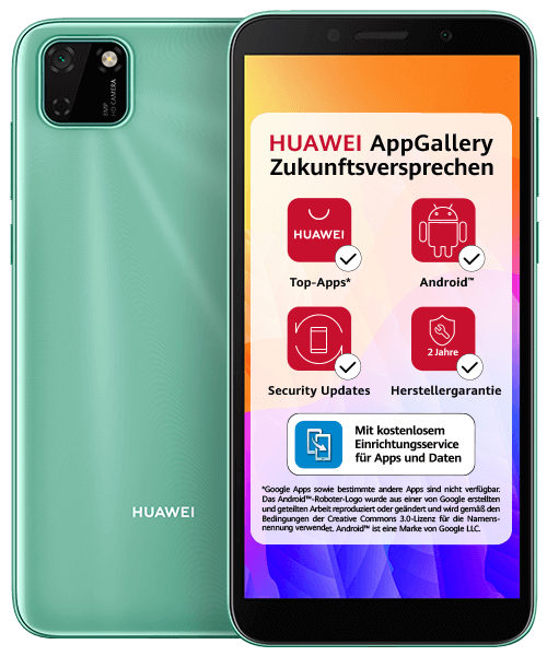HUAWEI Y5P Front-Backansicht