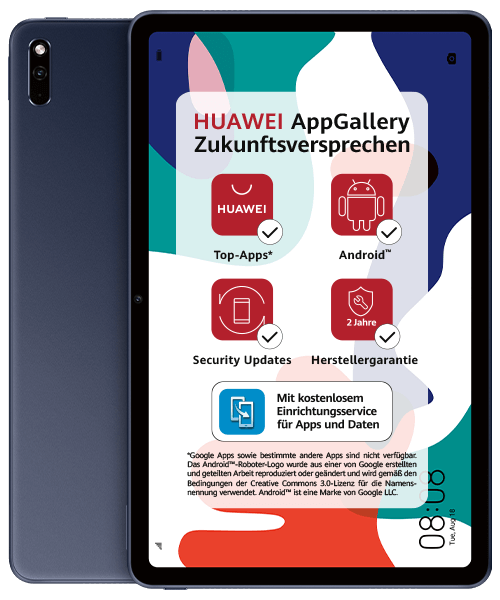HUAWEI MatePad LTE 32GB Front-Backansicht