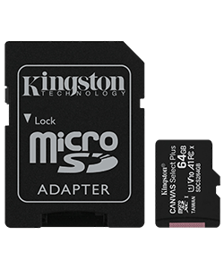 MicroSD Canvas Select Plus 64GB Class 10 schwarz