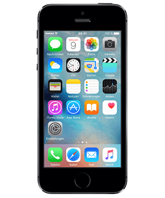 iPhone 5s 16 GB spacegrau Frontansicht