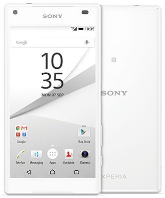 Xperia Z5 Compact white Front-Backansicht