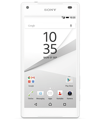 Xperia Z5 Compact white Frontansicht