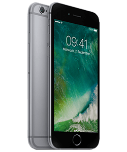iPhone 6s 16GB spacegrau Front-Backansicht thumb