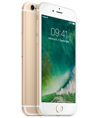 iPhone 6s 128GB gold Front-Backansicht