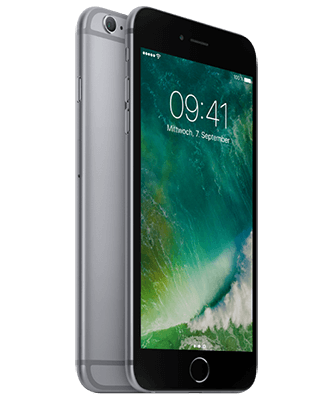 iPhone 6s Plus 128GB spacegrau Front-Backansicht