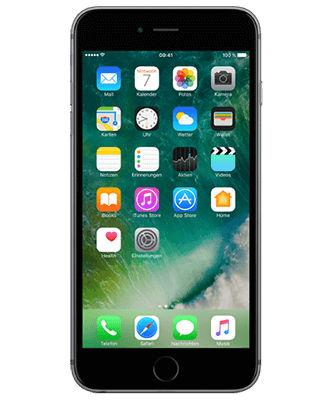 iPhone 6s Plus 128GB spacegrau Frontansicht