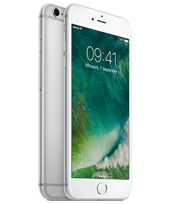 iPhone 6s Plus 128GB silber Front-Backansicht