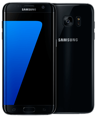 Galaxy S7 edge 32GB black onyx Front-Backansicht