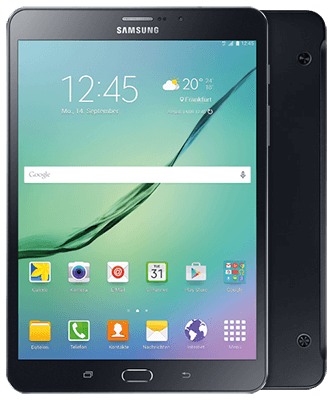 Galaxy Tab S2 8.0 LTE black Front-Backansicht