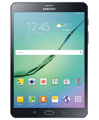 Galaxy Tab S2 8.0 LTE black Frontansicht
