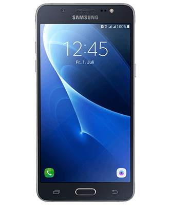 Galaxy J5 Duos 2016 black Frontansicht