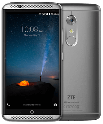 ZTE Axon 7 grey Front-Backansicht