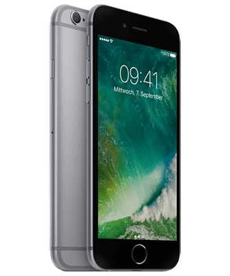 Apple iPhone 6s 32GB spacegrau Front-Backansicht
