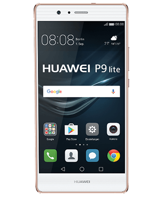 P9 lite rose gold Frontansicht