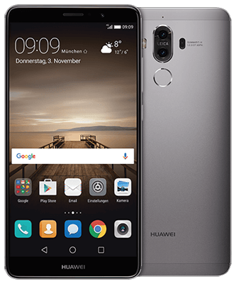 Mate 9 grey Front-Backansicht