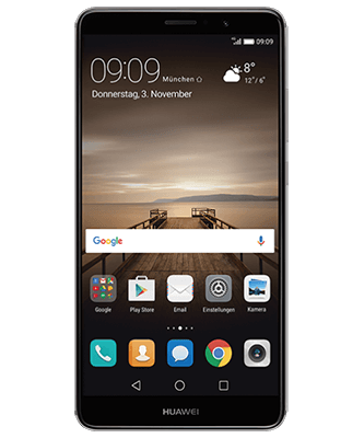Mate 9 grey Frontansicht