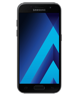 Galaxy A3 2017 black sky Frontansicht