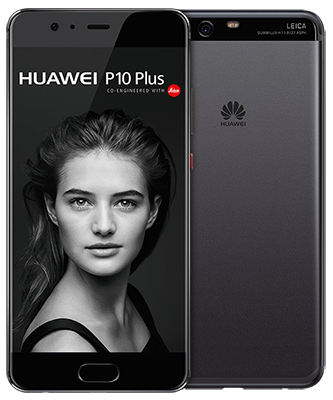 P10 Plus graphite black Front-Backansicht