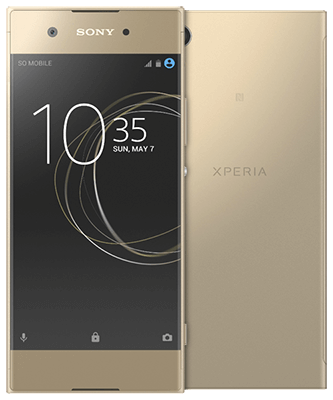 Sony Xperia XA1 gold Front-Backansicht