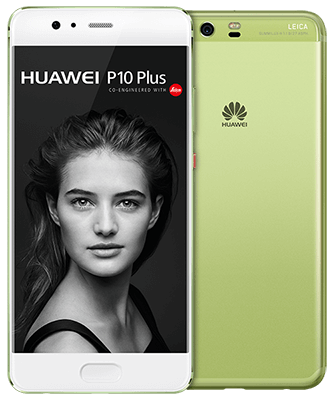 Huawei P10 Plus greenery Front-Backansicht