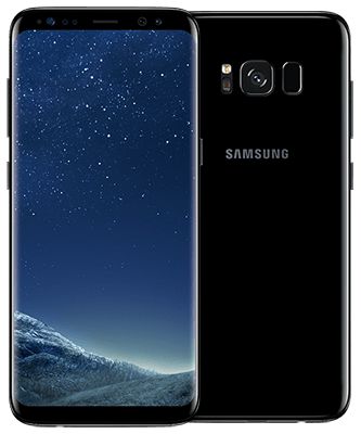Galaxy S8 midnight black Front-Backansicht