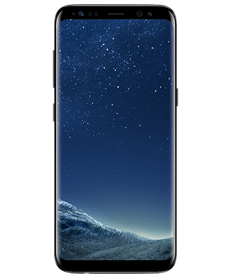 Galaxy S8 midnight black Frontansicht