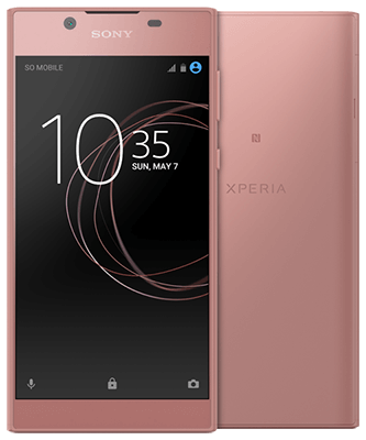Xperia L1 pink Front-Backansicht