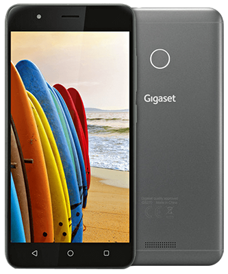 Gigaset GS270 dark grey Front-Backansicht