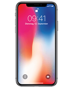 Apple iPhone X grau