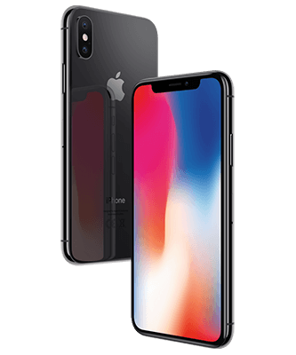 Apple iPhone X 256GB Front-Backansicht