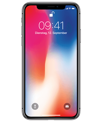 Apple iPhone X 256GB Frontansicht