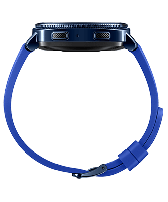Samsung Gear Sport blau side