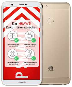 Huawei P smart Dual SIM gold mit Fan-Tarif LTE 50
