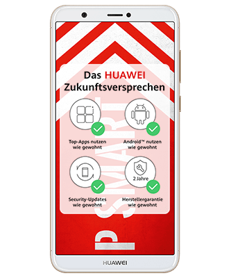 Huawei P smart Dual SIM Gold Frontansicht