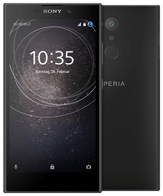 Sony Xperia L2 black Front-Backansicht