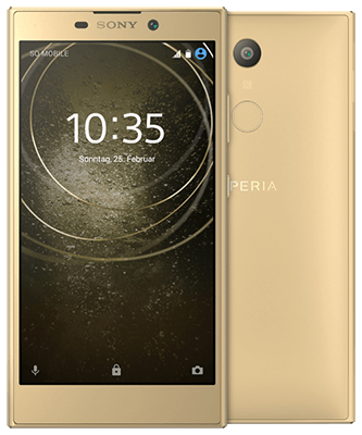 Sony Xperia L2 gold Front-Backansicht