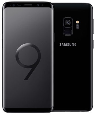 Samsung Galaxy S9 64GB Midnight Black Front-Backansicht