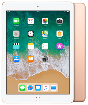 Apple iPad (2018) 32GB Wi-Fi + Cellular gold Front-Backansicht
