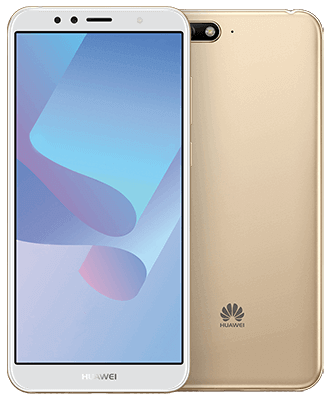 Huawei Y6 2018 Dual SIM gold Front-Backansicht