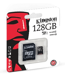 128GB microSDXC Canvas Card+SD Adapter