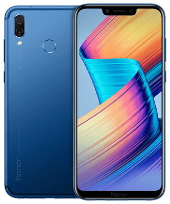 Honor Play Dual SIM blau Front-Backansicht