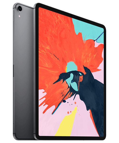 Apple iPad Pro 12.9 (2018) 64GB Wi-Fi u. Cellular Front-Backansicht