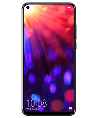 Honor View 20 Dual SIM 128GB midnight black Frontansicht