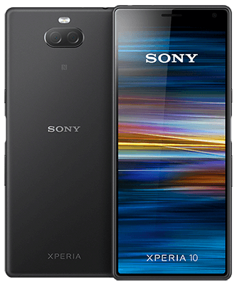 Sony Xperia 10 Dual SIM black Front-Backansicht