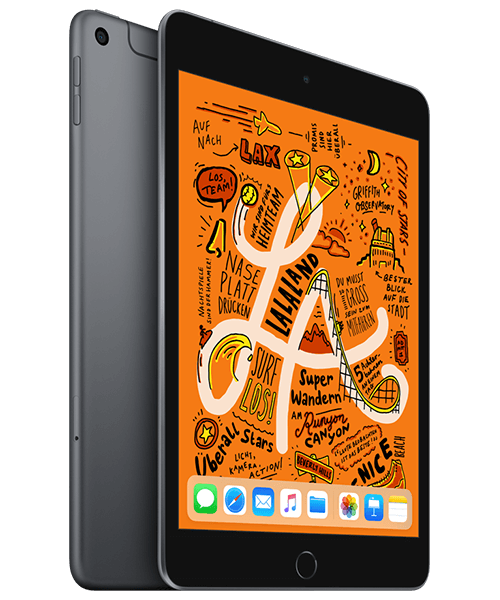 Apple iPad mini (2019) 64GB Wi-Fi u. Cellular Front-Backansicht