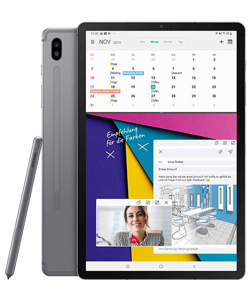 Samsung Galaxy Tab S6 LTE Front-Backansicht